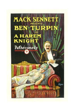 A Harem Knight, Ben Turpin, Madeline Hurlock, 1926