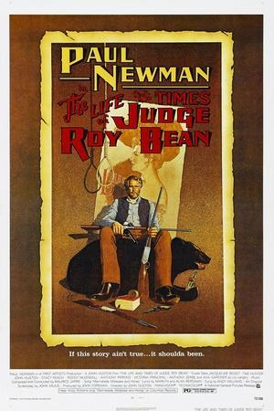 The Life and Times of Judge Roy Bean, US poster, Paul Newman, 1972