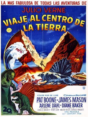 JOURNEY TO THE CENTER OF THE EARTH, (aka VIAJE AL CENTRO DE LA TIERRA), Argentinan poster, 1959