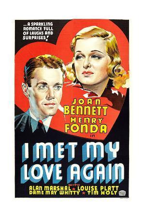 I MET MY LOVE AGAIN, US poster art, from left: Henry Fonda, Joan Bennett, 1938