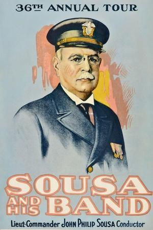 SOUSA AND HIS BAND, John Philip Sousa, 1901.