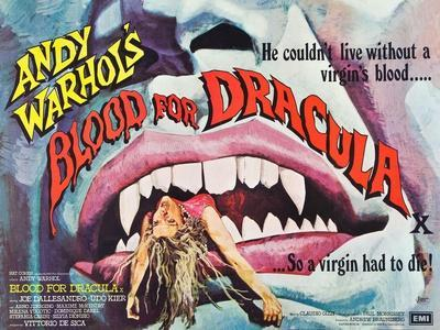 Andy Warhol's Young Dracula, (aka Andy Warhol's Dracula, aka Blood for Dracula), poster art, 1974