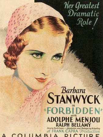 FORBIDDEN, Barbara Stanwyck, 1932