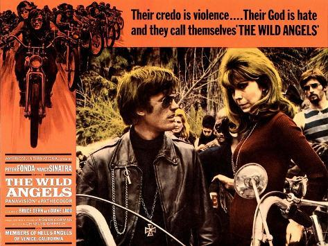 The wild angels Peter Fonda vintage movie poster print