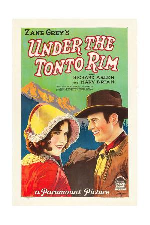 UNDER THE TONTO RIM, from left: Mary Brian, Richard Arlen, 1928