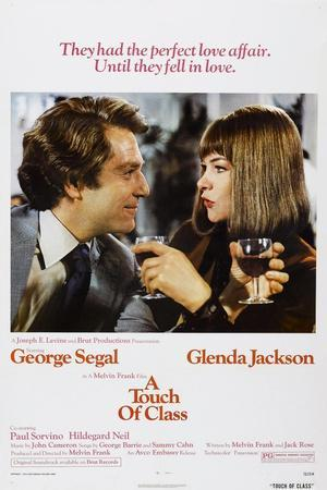 A TOUCH OF CLASS, US poster, from left: George Segal, Glenda Jackson, 1973