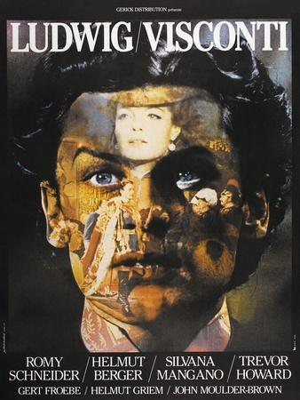 LUDWIG, French poster, Helmut Berger, Silvana Mangano, 1972