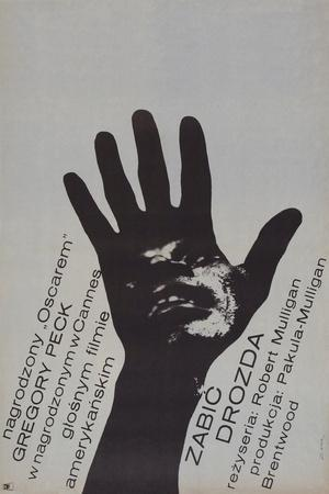 To Kill a Mockingbird, (Zabic Drozda), Polish poster, Brock Peters, 1962