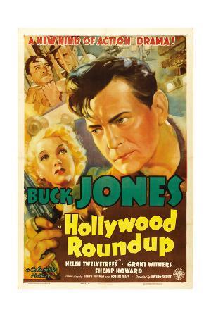 HOLLYWOOD ROUNDUP, Helen Twelvetrees, Buck Jones, 1937