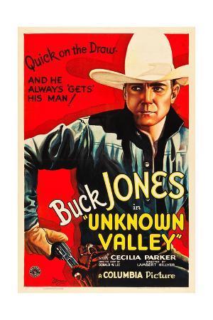 UNKNOWN VALLEY, Buck Jones, 1933.