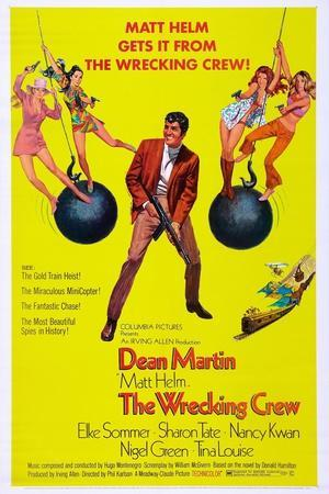 THE WRECKING CREW, US poster, Dean Martin, 1969