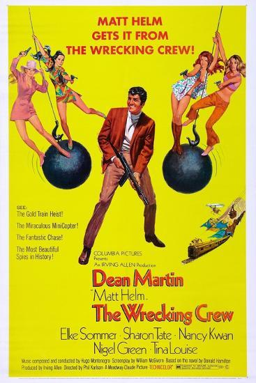 The Wrecking Crew Us Poster Dean Martin 1969 Prints At