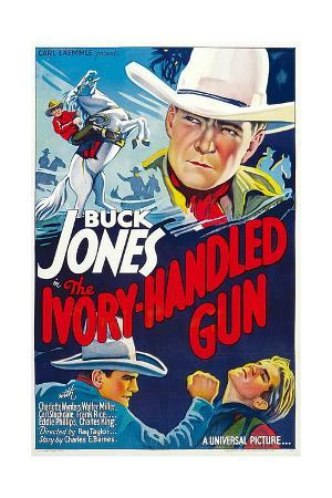 THE IVORY-HANDLED GUN, top and bottom left: Buck Jones, 1935.