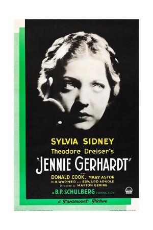 JENNIE GERHARDT, US poster art, Sylvia Sidney, 1933