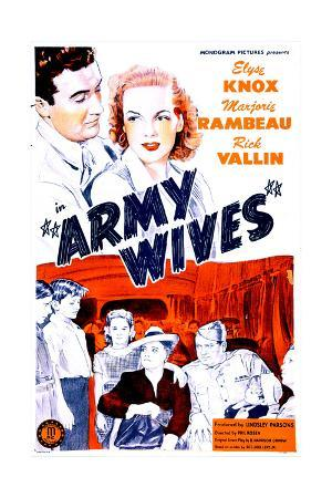 ARMY WIVES, US poster, top from left: Rick Vallin, Elyse Knox, 1944