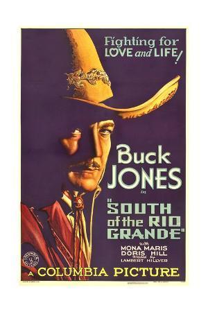 SOUTH OF THE RIO GRANDE, Buck Jones, 1932.