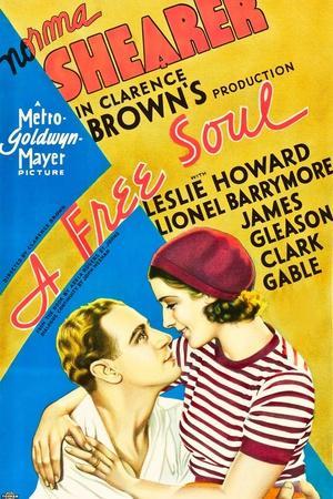 A Free Soul, Leslie Howard, Norma Shearer, 1931