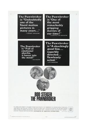 THE PAWNBROKER, US poster, far bottom: Rod Steiger, 1964