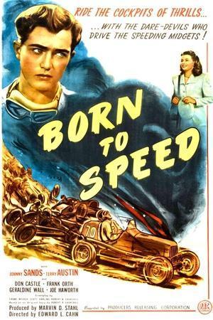 Born to Speed, Johnny Sands, Vivian Austin on poster art, 1947