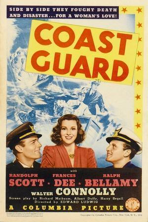 Coast Guard, Randolph Scott, Frances Dee, Ralph Bellamy, 1939