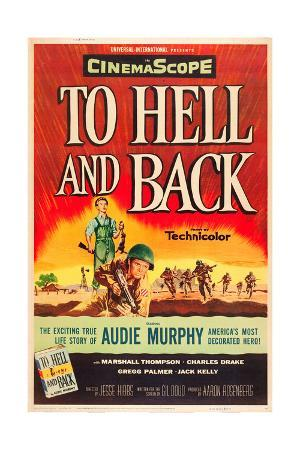 TO HELL AND BACK, Audie Murphy on US poster art, 1955.