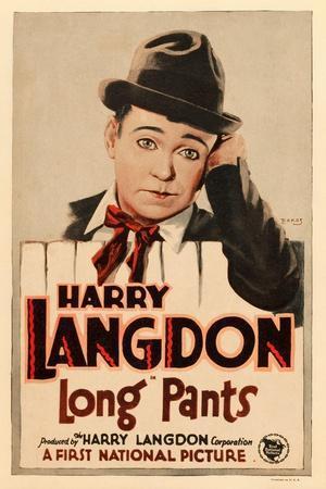 LONG PANTS, Harry Langdon on window card, 1927.