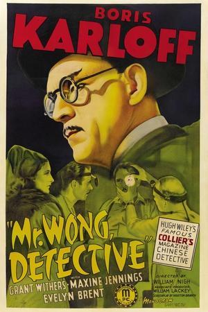 MR. WONG, DETECTIVE, Evelyn Brent, Boris Karloff, 1938