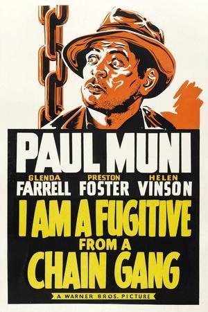 I AM A FUGITIVE FROM A CHAIN GANG, Paul Muni, 1932.