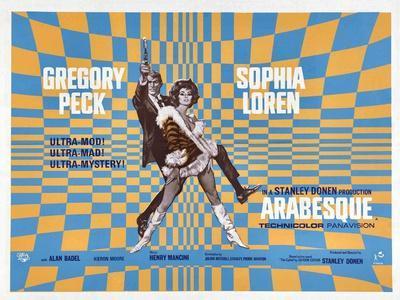 Arabesque, Gregory Peck, Sophia Loren, 1966