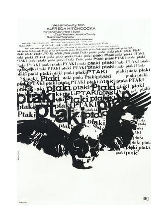 The Birds, (aka Ptaki), Polish poster, 1963