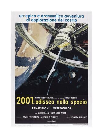 2001: A Space Odyssey, (aka 2001: Odissea Nello Spazio), Italian poster,  1968