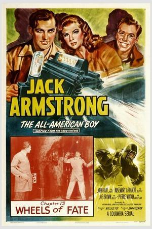 JACK ARMSTRONG, ALL AMERICAN BOY, top left: John Hart, in 'Chapter 13: Wheels of Fate', 1940.