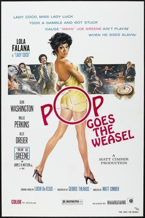 POP GOES THE WEASEL, US poster, Lola Falana, 1975