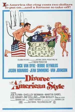 Divorce American Style, US poster, Dick Van Dyke, Debbie Reynolds, 1967