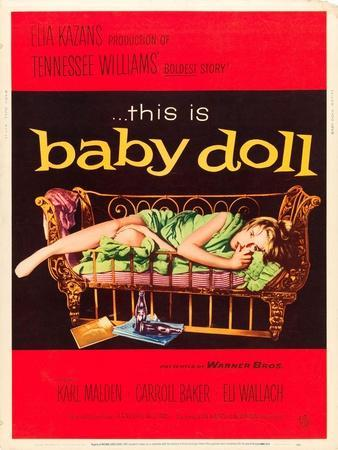 Baby Doll, Carroll Baker on US poster art, 1956
