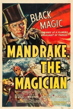 MANDRAKE THE MAGICIAN, Warren Hull, Movie Poster, 1939