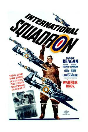INTERNATIONAL SQUADRON, Ronald Reagan (center), 1941.