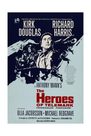 THE HEROES OF TELEMARK, British poster, Kirk Douglas, 1965