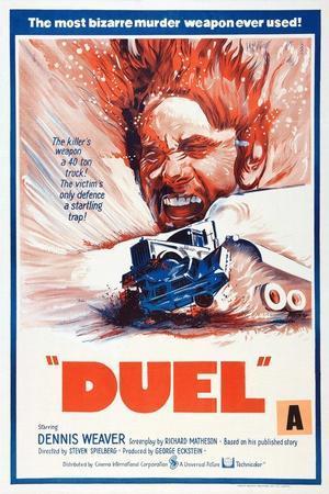 Duel, New Zealand poster, Dennis Weaver, 1971
