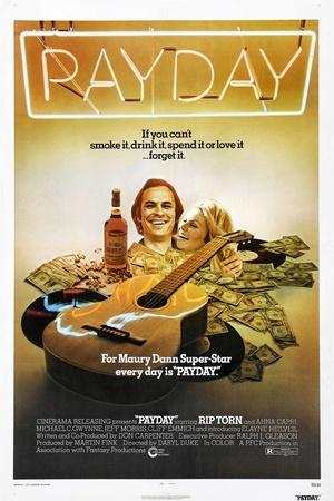 PAYDAY, US poster, from left: Rip Torn, Ahna Capri, 1973
