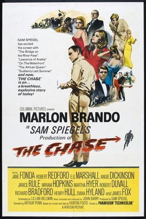 THE CHASE, US poster, center: Marlon Brando 1966