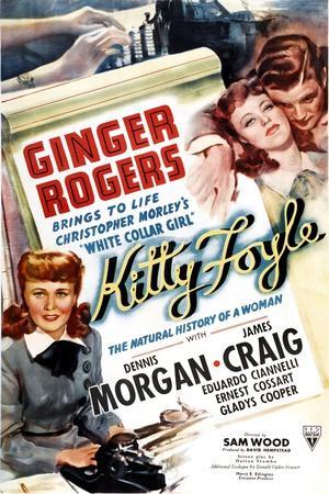 KITTY FOYLE, Ginger Rogers, Dennis Morgan, 1940