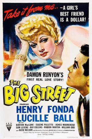 THE BIG STREET, top: Lucille Ball, right: Henry Fonda, 1942.