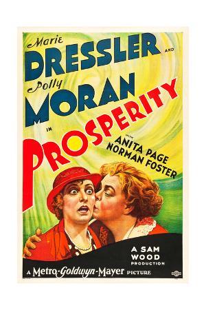 PROSPERITY, from left on US poster art: Polly Moran, Marie Dressler, 1932