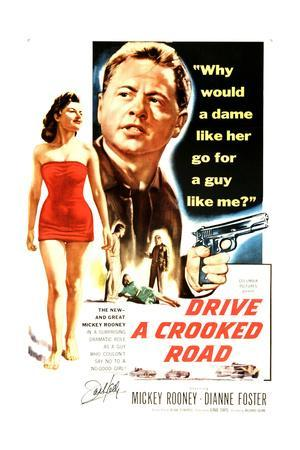 Drive a Crooked Road, Diane Foster, Mickey Rooney, 1954