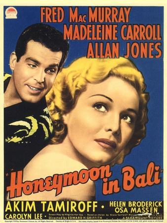 Honeymoon in Bali, Fred MacMurray, Madeleine Carroll, 1939