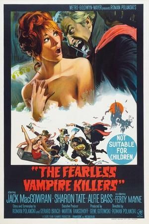 The Fearless Vampire Killers, Australian poster, Sharon Tate, Ferdy Mayne, 1967
