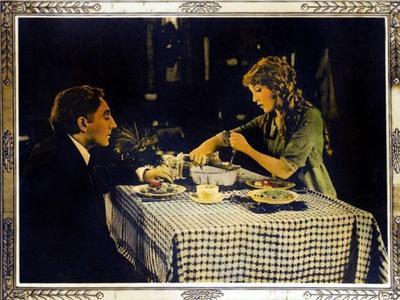 POLLYANNA, right: Mary Pickford on lobbycard, 1920.