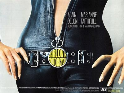 GIRL ON A MOTORCYCLE, (aka THE GIRL ON A MOTORCYCLE), poster art, 1968.