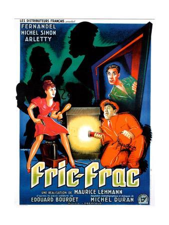 Fric-Frac, French poster art, Arletty, Michel Simon, Fernandel, 1939